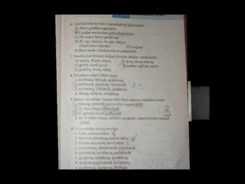 7ci Sinif Azerbaycan Dili Test Cavablari Youtube