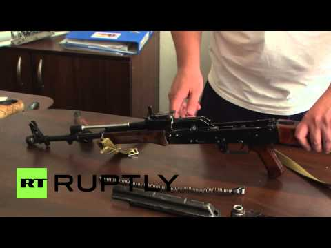 Ukraine: Donetsk People's Republic Army trains with AK-74s