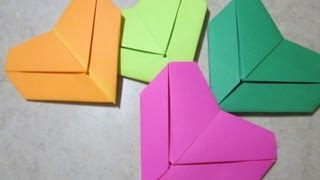 Origami How To: Letter Fold Heart