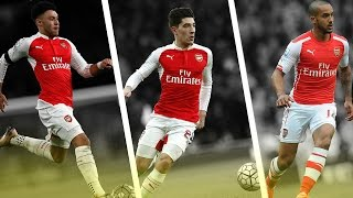 Fastest Players in Arsenal - Bellerin / Oxlade Chamberlain / Walcott - Crazy Flash - 2017