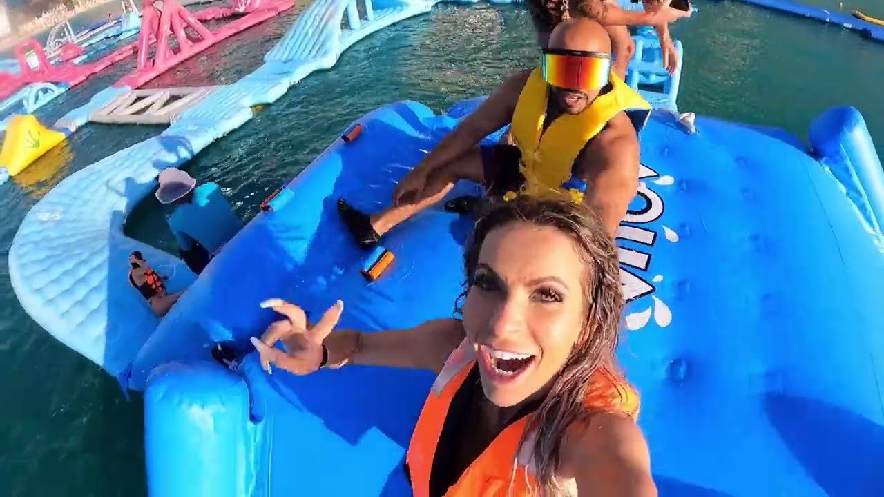 Bikini  I ❤️ Dubai Water Park Watch me get humbled by this INSANE-LY FUN obstacle course!