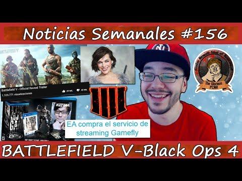 Noticias semanales #156 - ¡¡BATTLEFIELD V se presenta OFICIALMENTE!! - Black Ops 4 - PS5 - Kojima