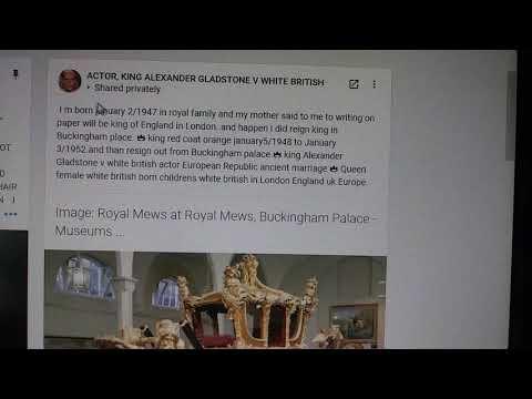 Royal wagon mews Buckingham palace museums in London👑king Alexander Gladstone v white british actor