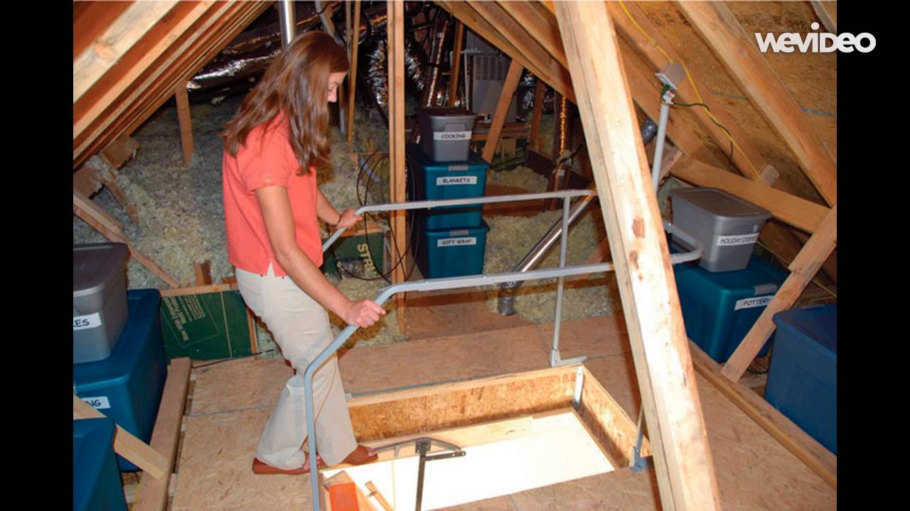 Versa Rail Attic Ladder Safety Rail Youtube