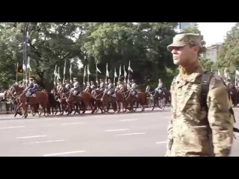 Fragmentos del desfile militar 25 mayo 2017. Аргентина военный парад.  Argentine military parade
