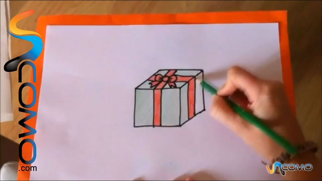 Cómo Dibujar Un Regalo Youtube