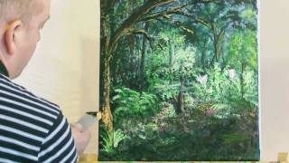The Forest Glade - acrylic painting by Steve Buchanan
