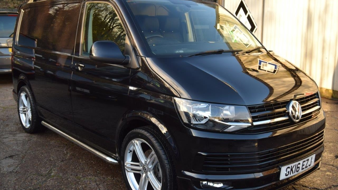 776da16df475fe 2016 16 VW Transporter T6 2.0 TDI 160PS SWB Black Sportline Pack Panel Van  For Sale