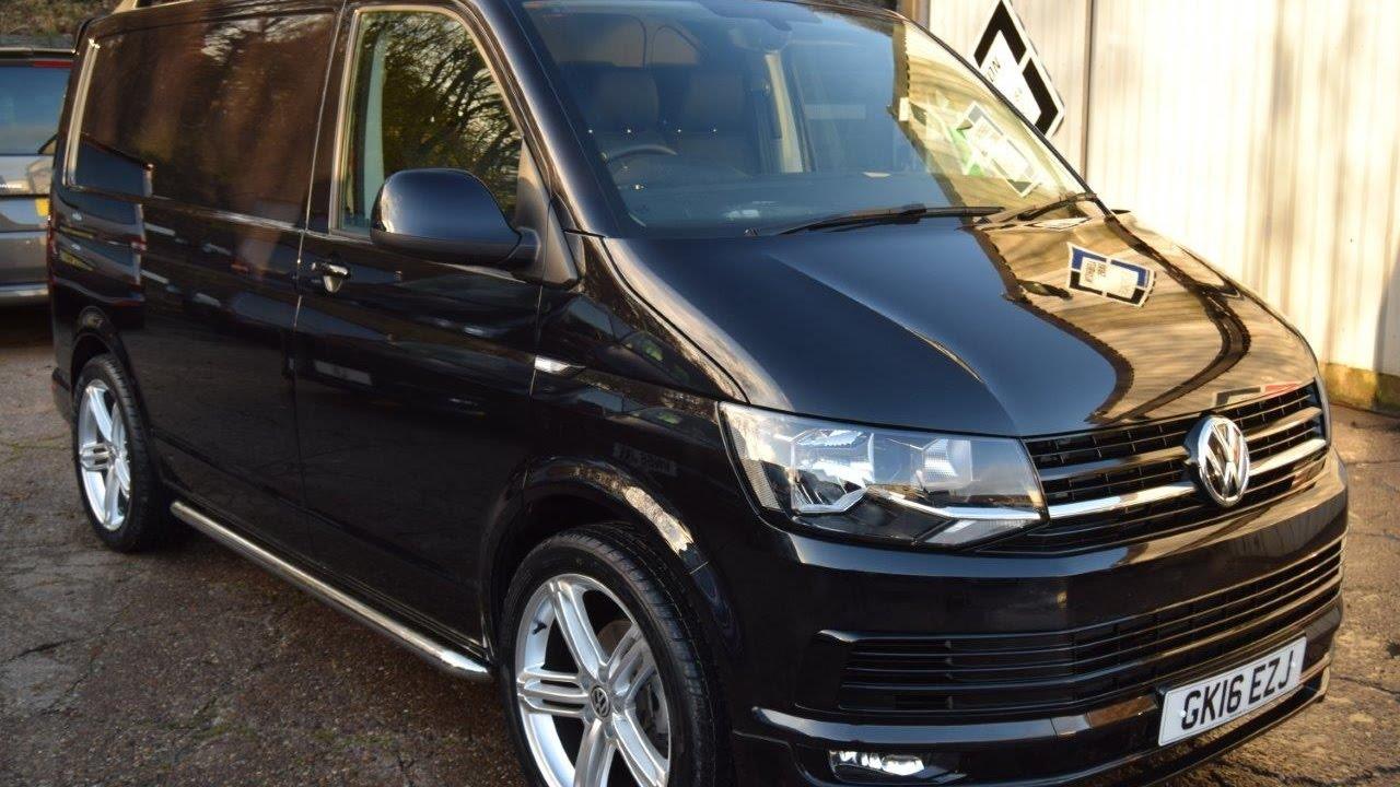 ef6e3b22b6 2016 16 VW Transporter T6 2.0 TDI 160PS SWB Black Sportline Pack Panel Van  For Sale
