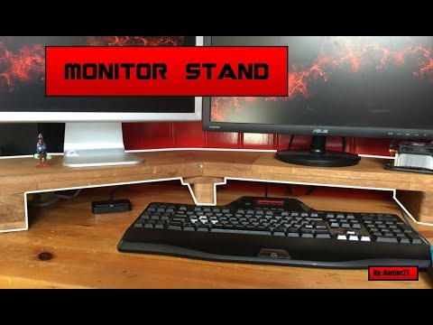 Monitor Stand, Build video.