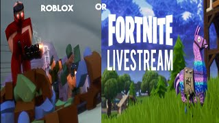 Hey guys! Roblox Or Fortnite livestream! + every sub is 10 push ups! []Road to 100 Subs! []