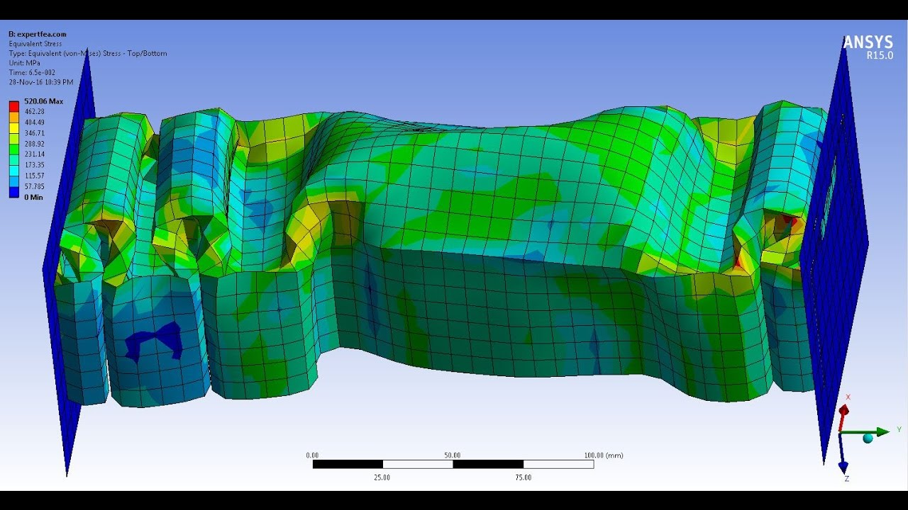 Ansys Wb Explicit Dynamics Fea Simulation Of The