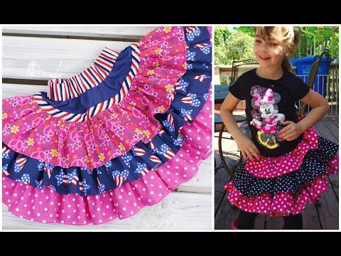How to sew a ruffle skirt