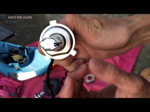 Hướng Dẫn Thay Bóng đèn Led Cho Xe Máy | Wave A 110 2019 Thay Bóng đèn Led Giá Rẻ Chỉ 170k