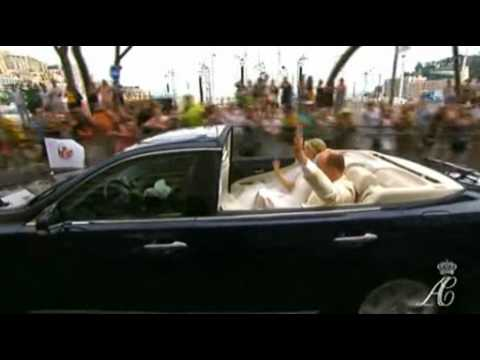 Prince Albert II and Princess Charlene Driving in Monaco after the Wedding 02.07.2011