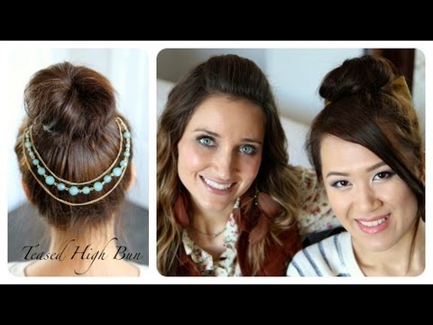 teased-high-bun-|-updo-hairstyles-|-with-anneorshine