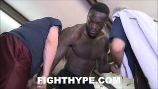 DEONTAY WILDER SHOWS ONE HITTER QUITTER RIGHT HAND HE PLANS ON KNOCKING OUT POVETKIN WITH