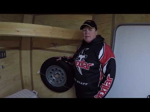Barb Carey Customized Trailer Ready For Ice Fishing