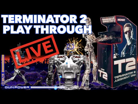 Terminator 2 Arcade Game Long Play | Recorded LIVE On an Arcade1Up Modded With a 32 Inch Screen! from Killer Arcade Games