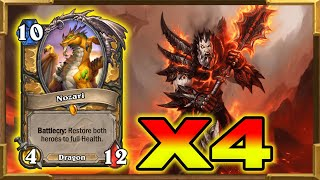 Hearthstone: X4 Nozari In One Game As A Warrior! My New Fireworks Warrior | Descent of Dragons | New