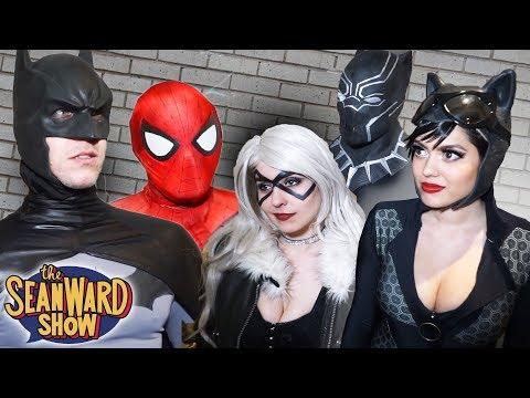 SPIDER-MAN, BATMAN vs BLACK CAT, CATWOMAN & BLACK PANTHER! parody real life superhero movie