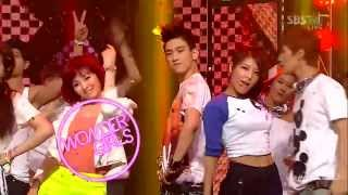 Live HD 720p 120617   Wonder Girls with JJ Project   Like this   Inkigayo