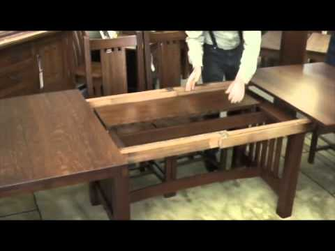Self Storing Leaves In Trestle Table Youtube
