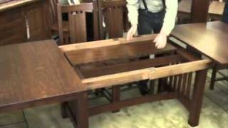 Self-storing Leaves In Trestle Table