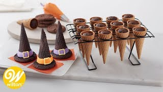 How to Make Halloween Witch Hat Cupcake Cones