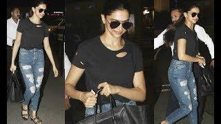 Dashing Deepika Padukone Spotted At Mumbai Airport