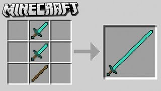 How to Make a LONG SWORD in Minecraft!
