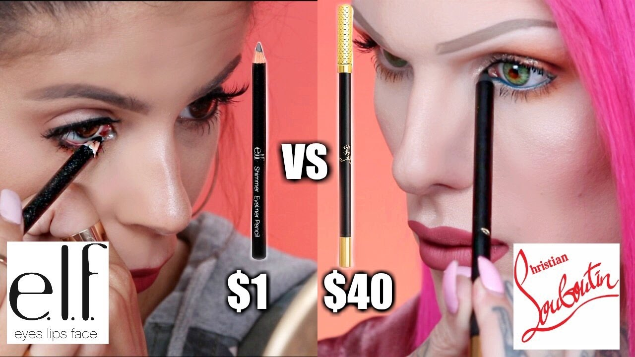 98e473a23f4 $1 ELF EYELINER VS. $40 LOUBOUTIN EYELINER w. JEFFREE STAR - YouTube