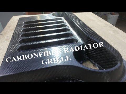 Карбоновая решетка радиатора на самодельный авто\Сarbon Grille