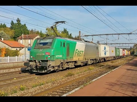 French Freight Trains Compilation - Trains de Fret SNCF DB ECR VFLI EUROPORTE OSR et COLAS RAIL
