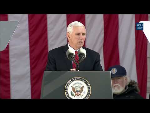 Vice President Pence Participates in a Wreath Laying Ceremony and Delivers Remarks