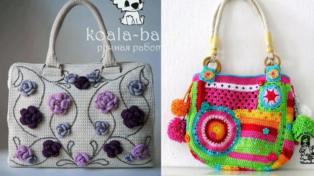 Most Beautiful Crochet Bag Designs And New Design Purses Bags