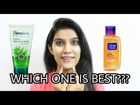 Himalaya Herbals Neem Face Wash  VS Clean & Clear Foaming Face Wash  face wash for oily skin