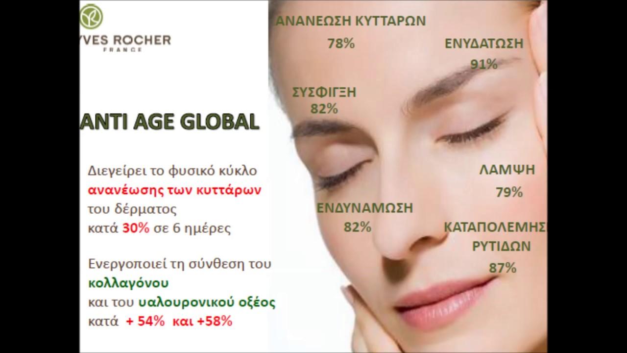 Anti Age Global Yves Rocher Youtube