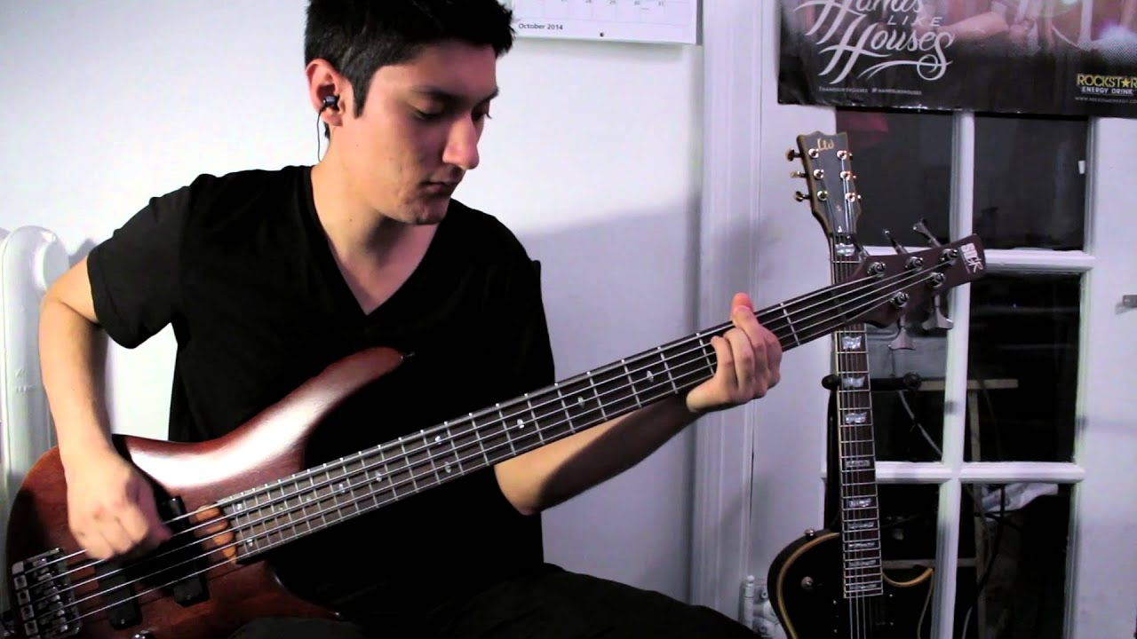beartooth the lines bass cover youtube