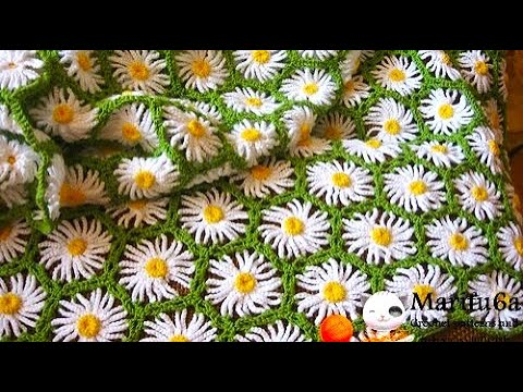 How To Crochet Daisy Afghan Blanket Free Easy Pattern Tutorial Youtube