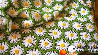 Repeat youtube video How to crochet daisy afghan blanket free easy pattern tutorial