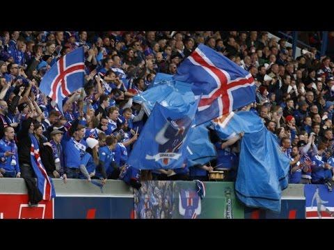 Iceland Beats England. Everyone Goes Nuts. ( Ísland Sigraði England. Allir Bilast.)
