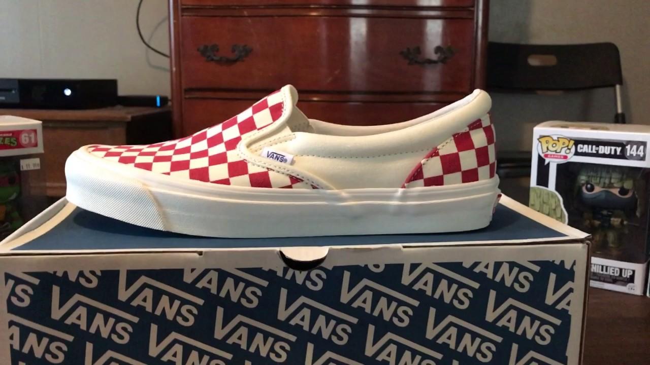 dc201dc34d580d Vans Vault OG Classic slip on Pizza lovers club - YouTube