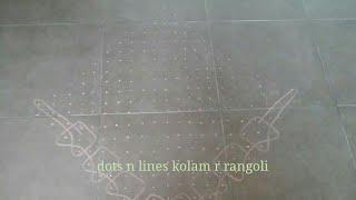 melikala muggulu big | 22 pulli sikku kolam | big dot rangoli | Margazhi kolams