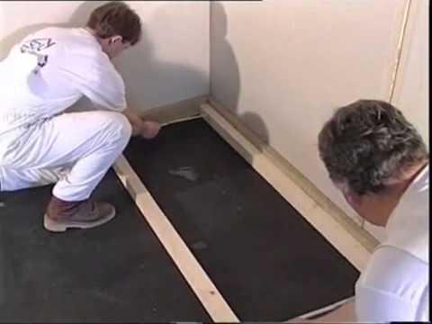 Утепление полов минеральной плитой на основе базальта