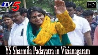 ys sharmila padayatra in Vizianagaram district -  TV5