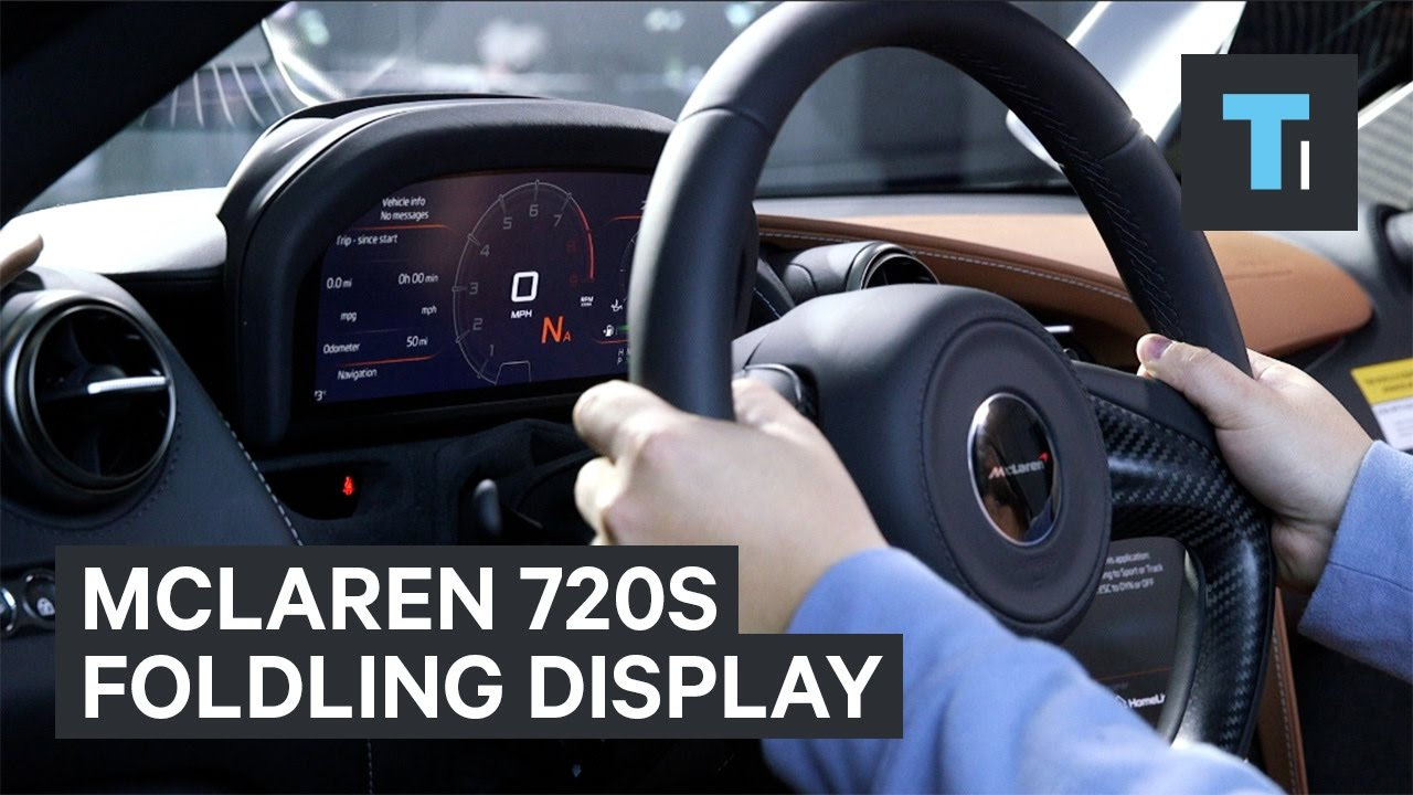 mclaren 39 s new 720s comes with an innovative folding display panel youtube. Black Bedroom Furniture Sets. Home Design Ideas