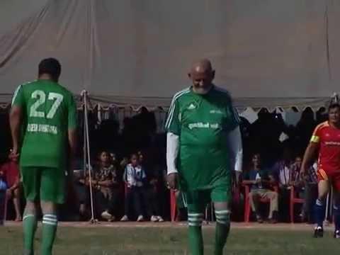 Sushil Koirala playing football