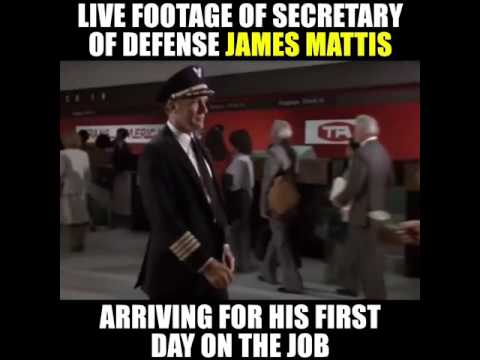 Mad Dog Mattis arrives for first day as Secretary of Defense