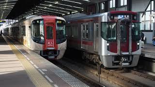 西鉄電車 3000形旅人・9000形 薬院駅すれ違い着発